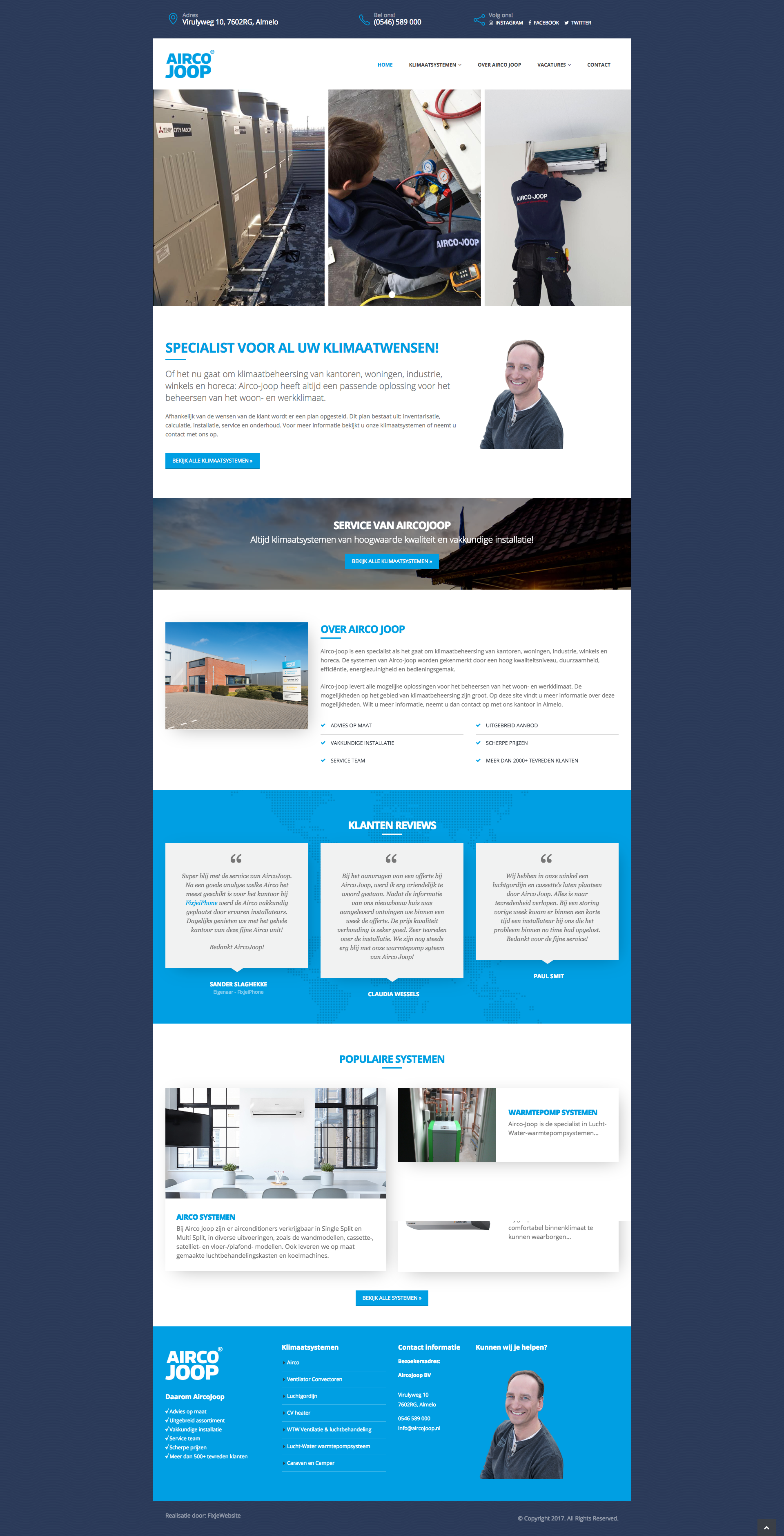 Website Airco Joop